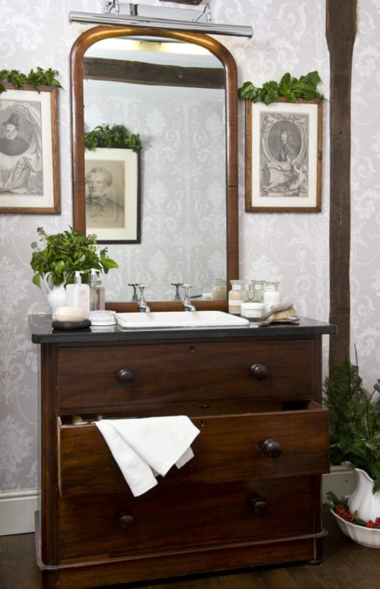 #Yorkshire #Interiors, #Christmas in a converted 18th century #cornmill. #Bathroom #Interiors
