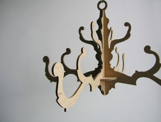 wedding decoration fancy chandelier in natural birch by uncommon, $65.00