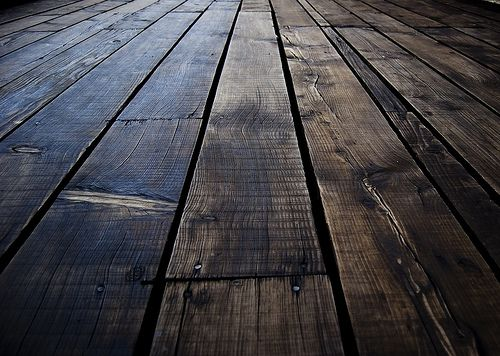 Old, wooden floor.