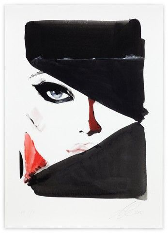 This in-your-face fashion illustration is by David Downton
