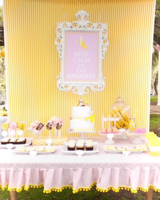 THE CUTEST monkey party for a girl with SO many party ideas! Via KarasPartyIdeas.com #girl #party #ideas #monkey