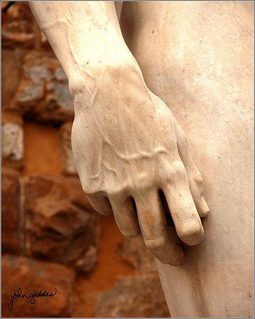 The hand of Michaelangelo's David