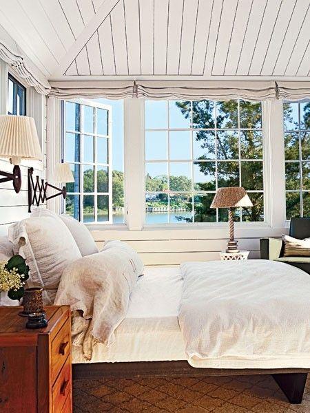 beautiful bedroom, great windows