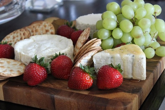 Simple Fruit and Cheese plate