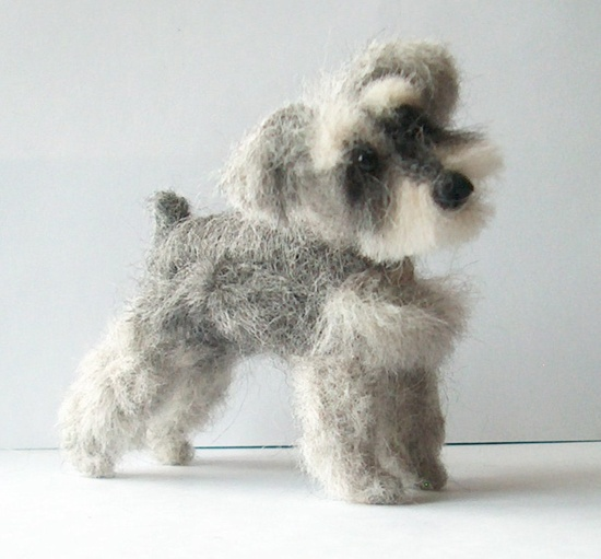 Custom Needle Felted Sculpture Of Your Dog. $42.00, via Etsy.