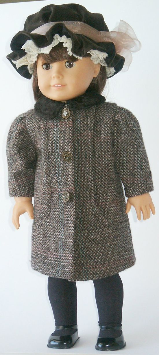 American Girl Doll Clothing Pattern 1904 Coat and Hat by digmongin, $8.00