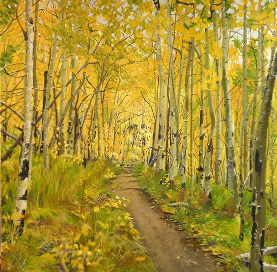 Yellow landscape painting.