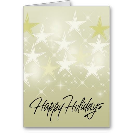 Gold Star Greeting Card
