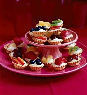 Mini fresh fruit tartlets #food