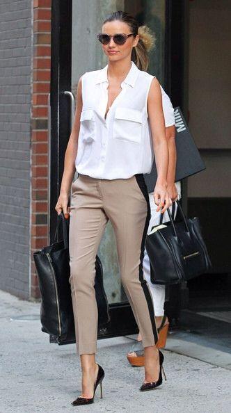 clean and chic Miranda Kerr
