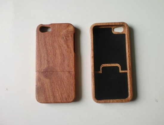 wood iphone 5 case, iphone 5 covers, eco-friendly iphone 5 case, hand made iphone 5 cover case. $24.90, via Etsy.