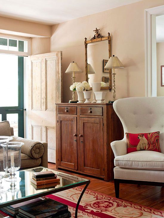 Hutches, cabinets, and armoires are stylish storage additions for more formal or traditional living rooms. These handsome pieces bring substance to a space while providing plenty of concealed storage for organizing necessities.