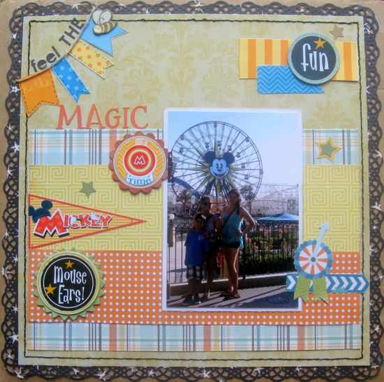 #papercraft #scrapbook #layout #Disney Feel the Magic - Scrapbook.com