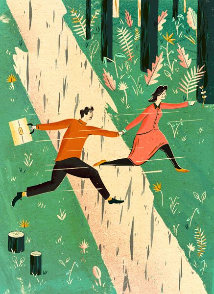 'Breaking up is hard to do...' by Adam Hancher Illustration, via Flickr