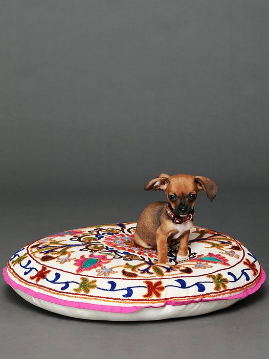 Embroidered Krishna Dog Bed