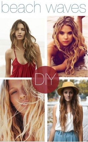 DIY Beach Waves Hair +++Visit www.makeupbymissc... For tips and how to's on #hair #beauty and #makeup