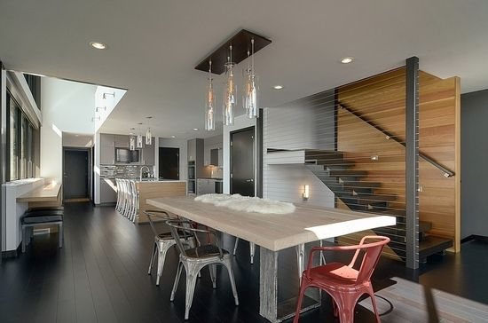 Modern #Home #Design in USA Reflecting Grandeur: Edgewater #Residence