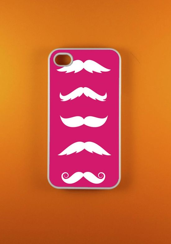 Mustache Iphone 4 Case, Iphone 4s Case, Iphone Case, Iphone 4 Cover