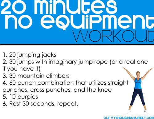 20 Minute Body-Weight Workout