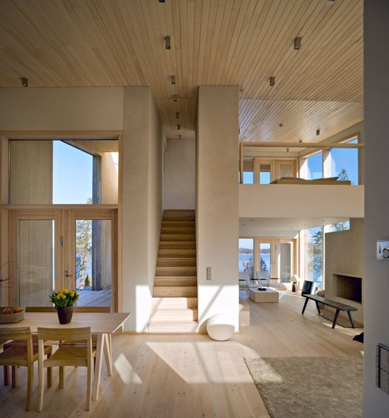 natural wood and loft - gorgeous.  I would just add some chandeliers for my dream NY apartment