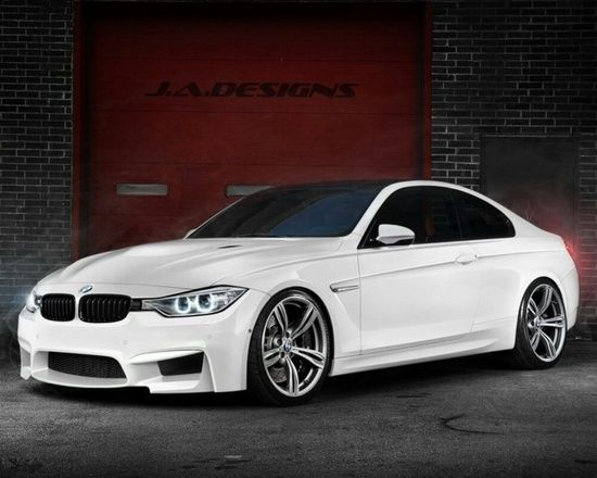 White BMW car wallpaper -