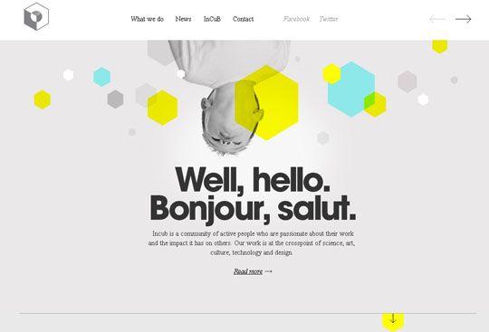 6.hexagon shape in web design