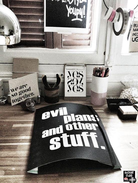 Méchant Design: in my studio