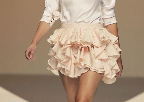Perfectly ruffled skirt.