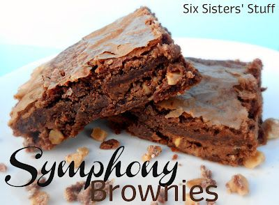 Symphony Candy Bar Brownies- take boxed brownies to a new level! These are delicious! SixSistersStuff.com #brownies #dessert