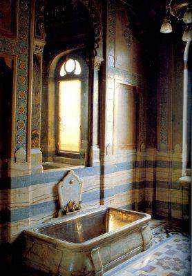 Pavia's bathroom.