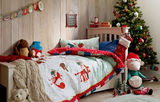 Marks and Spencers Christmas 2013 Crickleberry wood bedroom decor