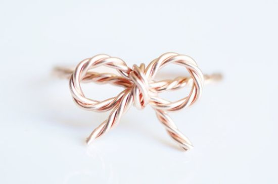 rose gold ring - bow