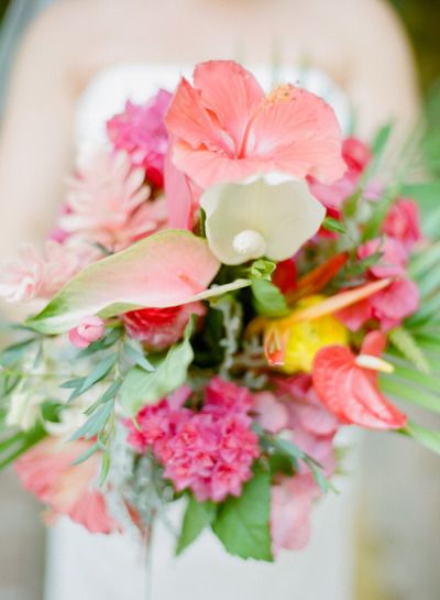 vibrant #coral #bouquet by www.sayulitalife....,  photography by jillianmitchell.net  Read more - www.stylemepretty...