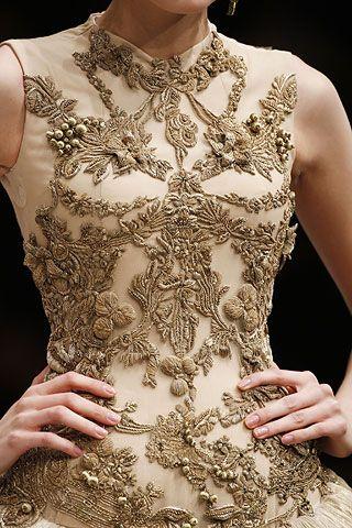 Alexander McQueen Embroidered Dress