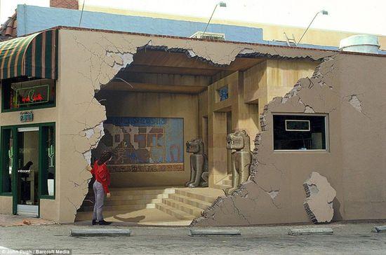 John Pugh's optical illusions. (3d wall mural, street, building, art, great, amazing, beautiful, cool, interesting, creative)