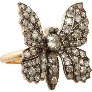 Munnu Diamond Butterfly Ring