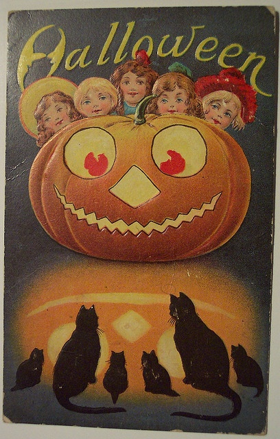 Vintage Halloween Postcard     Sanders by riptheskull, via Flickr