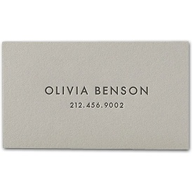 classic letterpressed calling cards