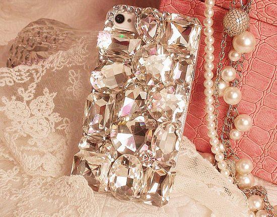 Big Rhinestone Crystal iphone case handmade, iphone 4s case, iphone 4 case ,iphone 5 case