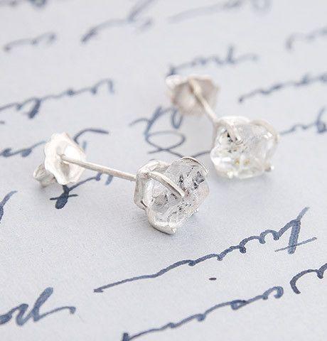 Herkimer Diamond Solitaire Earrings, $110.