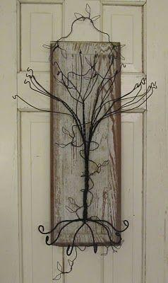 Wire Tree Jewelry Holder