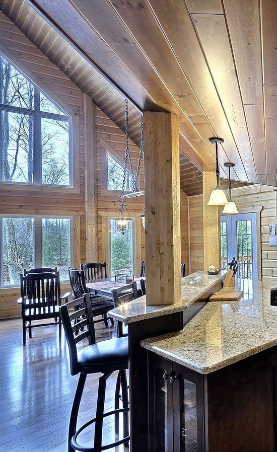 Modern Log Home Design