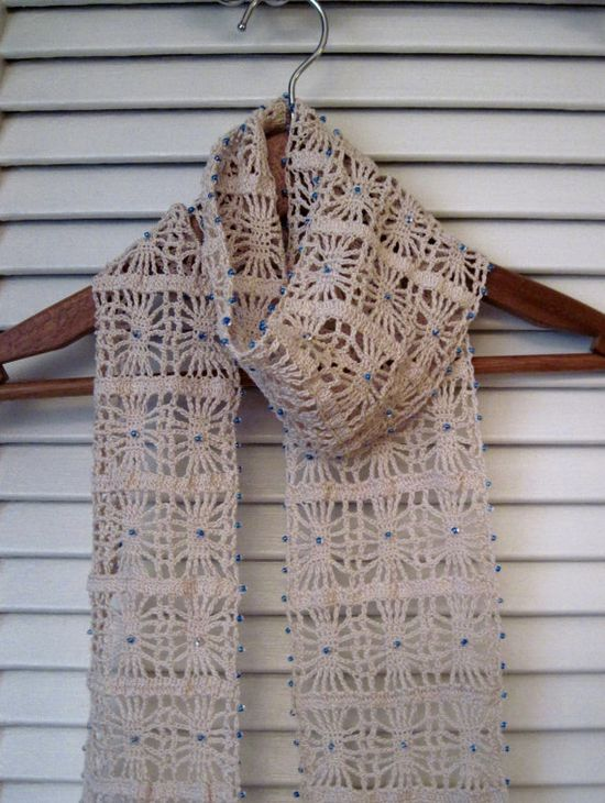 Beaded crochet scarf pretty!
