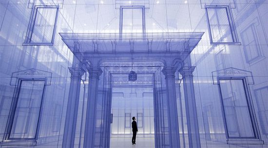 Using jade-colored silk, artist Do Ho Suh has constructed his largest artwork to date: massive 1:1 scale replicas of his previous homes, one inside the other.   See more photos at the link:  www.thisiscolossa...