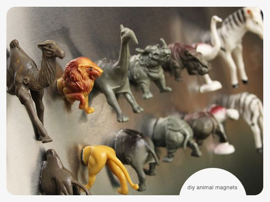 diy wild animal magnets • Lovely Indeed