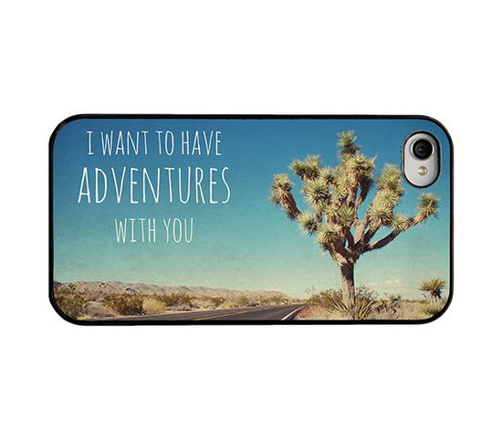 Iphone case - Iphone 4 and 4s case - quote iphone case - i want to have adventures with you - girly iphone case - trendy  iphone case.