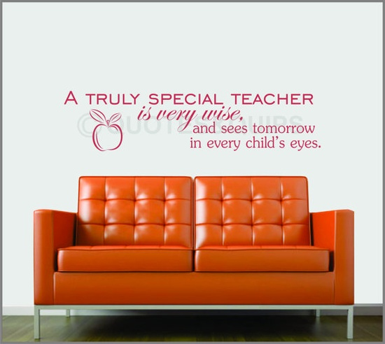 A Truly Special Teacher Gift Tag Quote