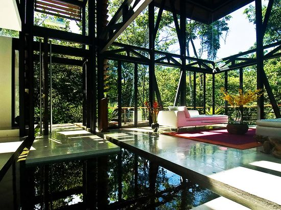 Amazing Modern House with Large Windows and Glass Walls, Costa Rica