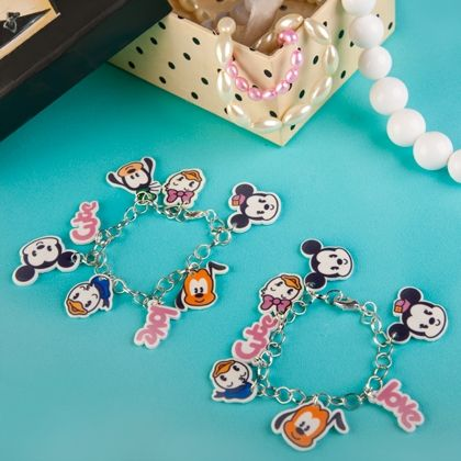 ADORABLE!! Mickey and Friends Cutie Charm Bracelets  #Mickey
