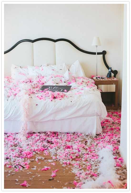 Pink and White Feathers - Bachelorette Party Ideas For the Maid of Honor
